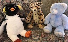 Build a Bear Surf's Up Cody penguin Blue Snowflake Bear Leopard/Cheetah Plush F3