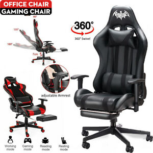 Racing Gaming Chairs Office Executive Recliner Computer Desk Chair with Footrest