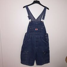 Vtg Revolt Clothing Co Jean Suspender Shorts