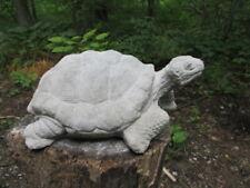 """Large Cement 12"""" Long Turtle Garden Art Concrete Statue"""