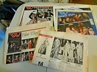 Vintage W WWD Women's Wear Daily Newspaper Fashion Magazine 1970s 80's Lot AS IS
