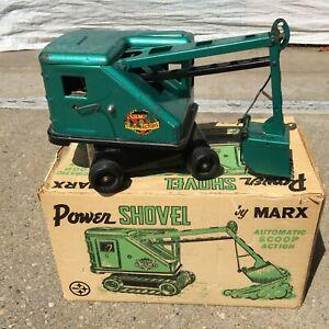 Vintage Lumar Contractors Power Shovel Automatic Scoop Steam Crane Excavator Box
