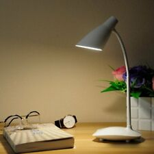 NEW Touch Sensor LED Flexible Book Reading Light Bed Table Desk Lamp Plug White