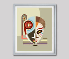 Art Print African Mask Home Decor Afrocentric Gift Traditional Painting Poster