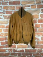 Polo Ralph Lauren L  Suede/Leather Lined RRL A-1 Shawl Bomber Motorcycle Jacket