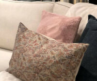 Pottery Barn Jaxton Lumbar Pillow Cover 16x26 Rustic Floral Paisley New