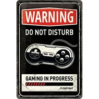 Gaming Progress Nostalgie Blechschild 30 cm NEU  Tin sign shield