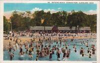 Postcard Bathing Beach Gordon Park Cleveland OH 1931