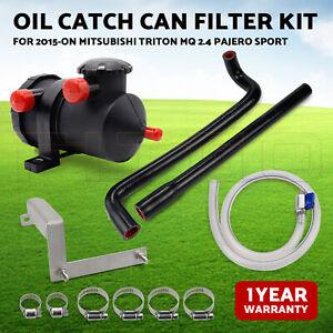 Oil Catch Can Filter Kit fr 2015 Mitsubishi Triton MQ 2.4 Pajero Sport 2 filters