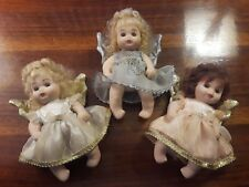 3 Vintage Classic Creations All Porcelain Angel Baby Dolls Cherubs - 6""