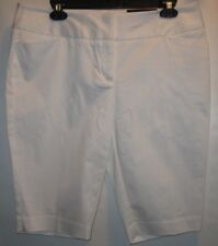Worthington Women's Pocket Front White Slim Leg Shorts Size 10 New With Tags