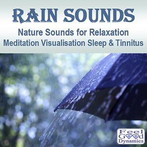 Rain Sounds CD Nature Sounds CD for Relaxation, Meditation,Sleep and Tinnitus
