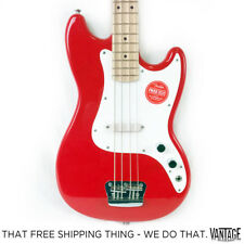 Fender Squier Bronco Electric Short Scale Bass Guitar - Torino Red