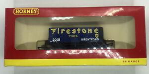 Hornby 00 R6343A 7 Plank Wagon Firestone No 2008
