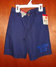 NWT Oshkosh B'gosh Size 5 Boys Adjustable Waist SOLID Dark Blue Cotton Shorts