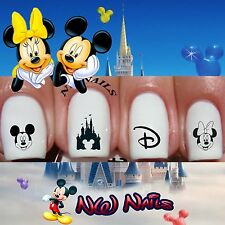 Mickey and Minnie Mouse Disney Castle Nail Art Waterslide Decals Disney Vacation