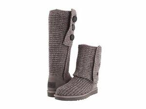 Women's Shoes UGG Australia Classic Cardy Merino Wool Boots 5819 Grey *New*