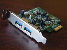 Dell ECS U3N2-D 2 Port USB 3.0 PCIe x1 Expansion Card LP Half Height FWGJ8
