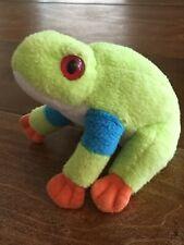 Wild Republic Green Tree Frog Plush Small Size 5� Stuffed Animal Red Eyed Eyes