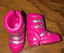 Barbie Logo Hot Pink Silver Boots Snow Ski Winter Fun Moon Shoes Glam Accessory