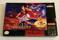 Disney's Aladdin (SNES) Video Game Cartridge, Manual, & Box (Super Nintendo)