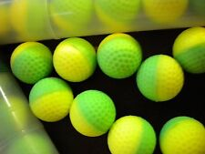 .68 Caliber PowderBalls (Paintball) 10 count tube green/yellow shell waterproof
