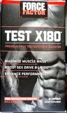 Force Factor TEST X180 PREMIUM TESTOSTERONE BOOSTER 60 caps exp. Dec.2020