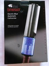 Automatic Corkscrew Wine Enthusiast Electric Blue NEW