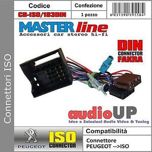 CONNETTORE ISO AUTORADIO ORIGINALE ANTENNA DIN PEUGEOT 207 DAL 2006 IN POI