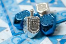 Chanuka DREIDEL - -  Metallic Coloured Draidel, kids adults present gift judaica