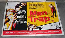 MAN-TRAP original 1961 BAD GIRL quad movie poster STELLA STEVENS/JEFFREY HUNTER
