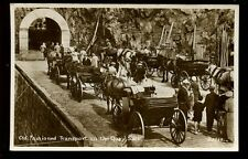 Channel Islands SARK close up Horse drawn Carriages on the Quay RP PPC 1930s?