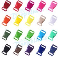 """5/8"""" Colorful Contoured Side Release Plastic Buckles for Paracord Free Shipping"""