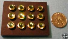 Lot(12), Crystal Embellished Thumb Tacs, Push Pins, Peridot
