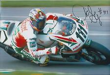 Aaron SLIGHT SIGNED CASTROL HONDA 12x8 Photo AFTAL COA Autograph DONNINGTON GP