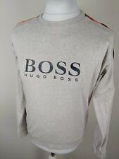 Mens Hugo Boss Jumper Sweatshirt Grey Beige Small 38 Chest