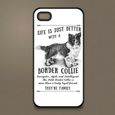 Border Collie dog phone case cover Apple iPhone Samsung Galaxy ~ Personalised