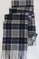 Lyle & Scott 100% cashmere scarf navy blue grey cream beige mens womens NEW wool