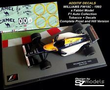 Decal 1/43 Williams Renault 1993 Fw15C Hill Prost Camel F1 collection altaya