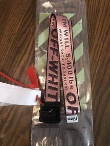 Off-White Tie Down 150cm  Nylon Industrial Pink Belt, OFFWHITE BELT