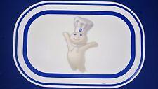 NEW Pillsbury Doughboy Poppin Fresh Blue & White Plastic Placemats - $6 each