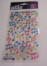 Scrapbooking Crafts Stickers Ek Success Sticko Puffy Colorful Music Notes Pink