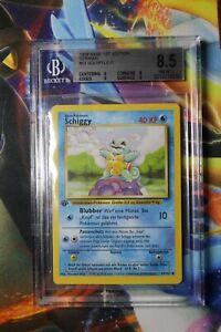 Pokemon Squirtle (Shiggy) 63/102 – German Base Set 1st Edition – BGS 8.5 NM-Mint