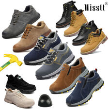 Men's Leather Professional Work Safety Shoe Steel Toe Cap Indestructible Sneaker
