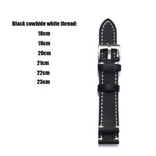 Genuine Leather Watch Wrist Band Strap Replacement 18 19 20 21 22 23 mm