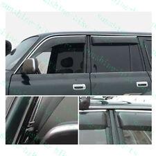 4pcs Car Window Rain Eyebrow Trims For Toyota Land Cruiser LC80 4500 FZJ80 92-97