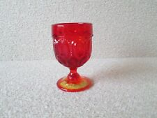 Vintage Moon and Stars Pattern Glass LE Smith AMBERINA Small Wine Cordial Glass