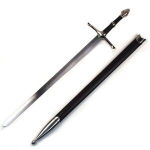 ARAGORN SWORD Irish Ring Hilt Celtic Medieval Crusader Sword with Scabbard NEW