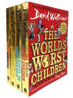 David Walliams World's Worst Children Collection 4 Books Set Fiction Paperback