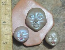 MOLD TRIBAL GODDESS and baby face lot by Lori Barbee carvings